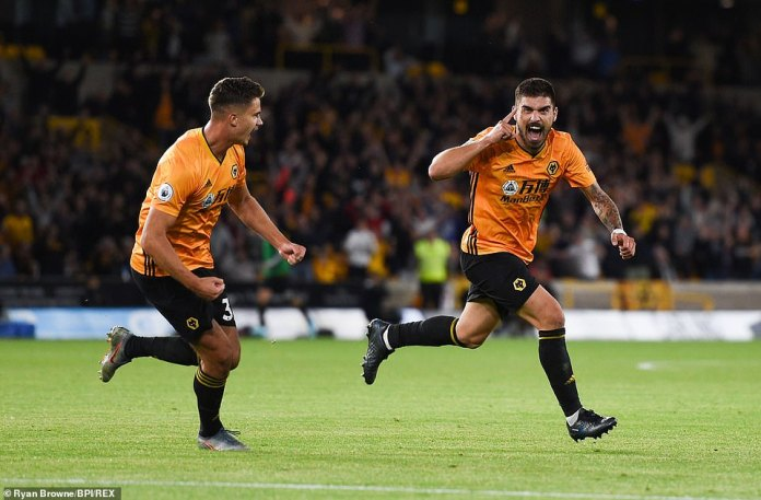 Ruben Neves equalised for Wolves with a stunning strike in the 55th minute, leaving David de Gea with no chance