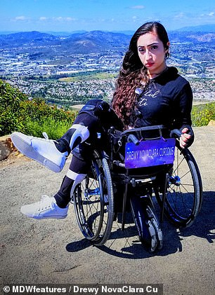 Drewy NovaClara Curious has been left wheelchair bound after doctors dismissed her stroke symptoms as anxiety
