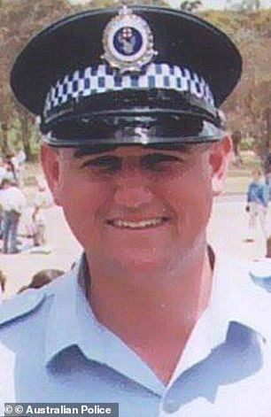 Amy Connors admitted to the affair with the killer of  Senior Constable Glenn McEnallay (pictured)