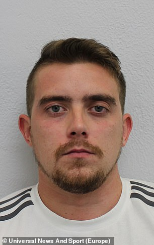 Grant West, 26, sent emails from the mobile home in Sherness, Kent, pretending to come from 'Just Eat'