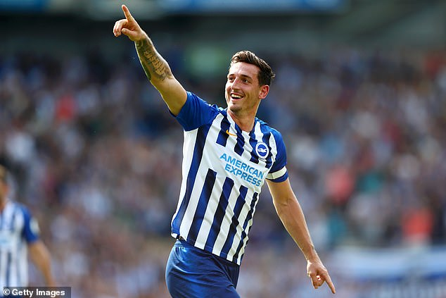 Despite seeing Andone get sent off, Brighton thought they had the lead through Lewis Dunk