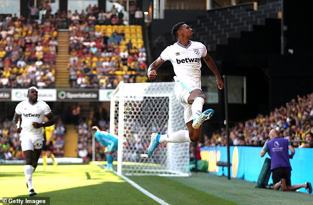 Sebastien Haller scored his first two goals for West Ham to fire them to a 3-1 win at Watford