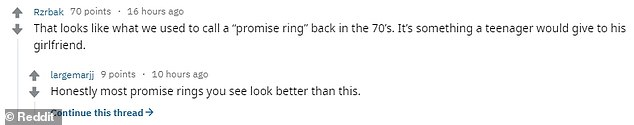 Posting a photograph of the ring on Reddit, a social media user asked whether or not the bride was 'justified' in her less-than-impressed response to the miniature ring