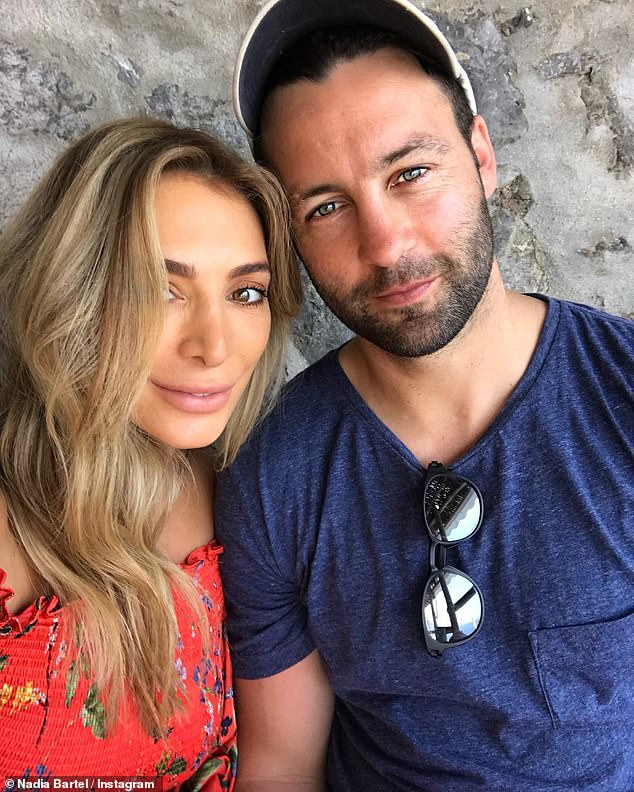 Making headlines: Nadia (L), who shares two sons with the former Geelong Cats player (R), is now reportedly 'bracing herself' for more details of her husband's private life to be made public