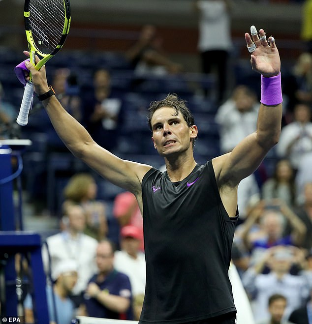 The Spaniard was pushed close in the opening two sets before coming through in three