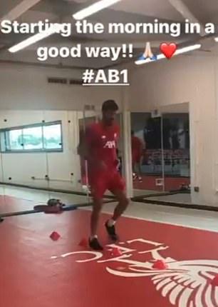 Liverpool goalkeeper Alisson Becker returns to light