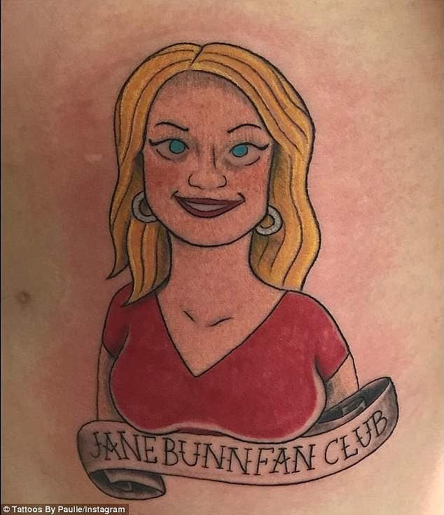 Obsessed! One die-hard fan even had Jane Bunn's face inked on his rib cage - confirming the weather presenter's cult following