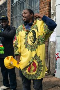 Some Zimbabweans paid tribute to Mugabe
