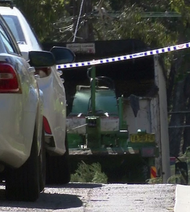 Samuela Cirivakayawa died after allegedly falling into this woodchipper (above) in Lindfield, on Sydney's north shore, on the morning of Saturday, September 9