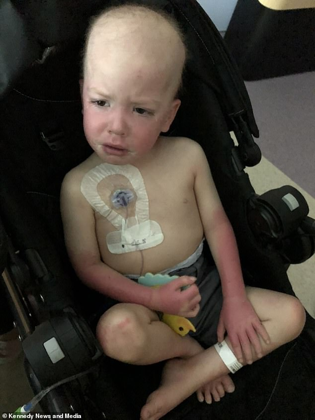 Difficult: The child underwent chemotherapy, blood transfusions and platelet transfusions during his hospital stay and was unable to see his sister for some time.