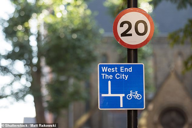 The changes mean that that two fifths (39 per cent) of London streets will have 20mph limits in place
