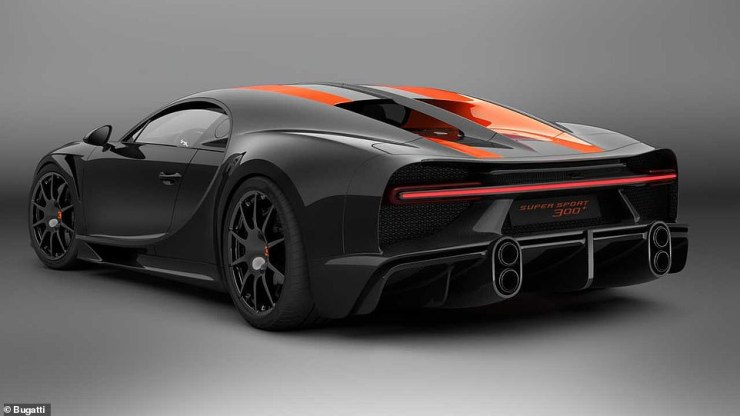 Just 30 examples of this black and orange Chiron Super Sport 300+ will be produced - around twice as many Super Sport versions will come off theMolsheim assembly line in France