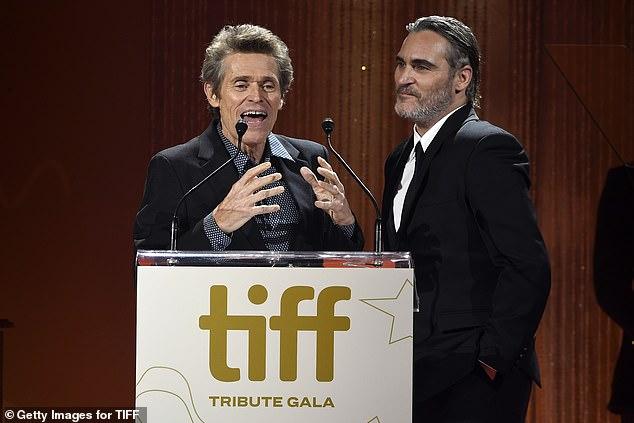 Willem and Joaquin: Willem Dafoe speaks before Joaquin Phoenix accepts theTIFF Tribute Actor Award