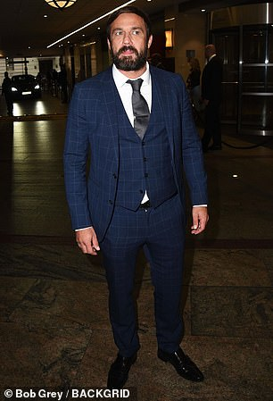 Chaos! Last night's TV Choice Awards reportedly descended into chaos as Emmerdale star Asan N'jie threatened to kill Hollyoaks actor Jamie Lomas, 44, (pictured) during a vicious brawl