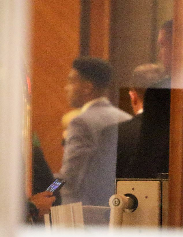 Removed from the premises? The pair were reportedly pulled apart by security twice at the Hilton Park Lane hotel in Mayfair, London, with Asan being escorted off the premises