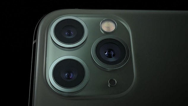 The stainless iPhone Pro boasts three cameras and will be available in four colors, including the new Midnight Green, all with a matte textured finish