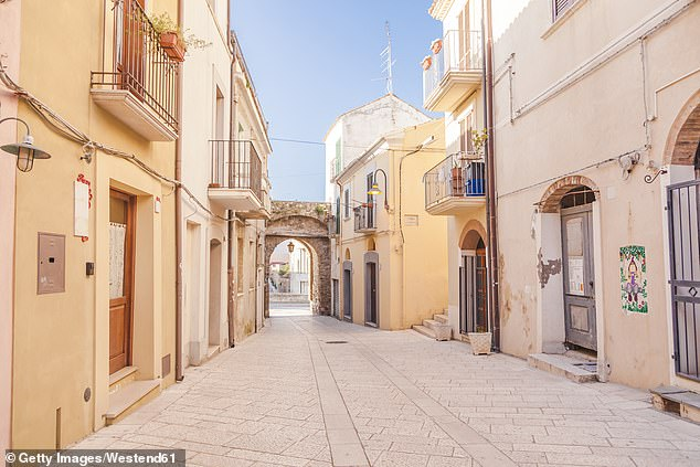 The town ofTermoli on the Adriatic coast - it is a favourite tourist spot for Italian families, with a historic fishing port
