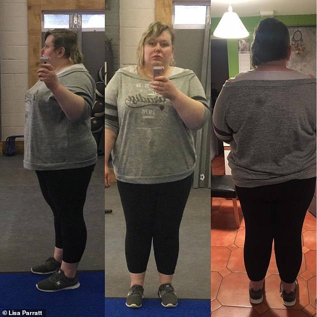 Lisa Parratt (pictured), 33, from Market Harborough, Leicestershire, was left devastated after being fat shamed by a personal trainer who refused to have her join his boot camp as she was 'way too heavy'