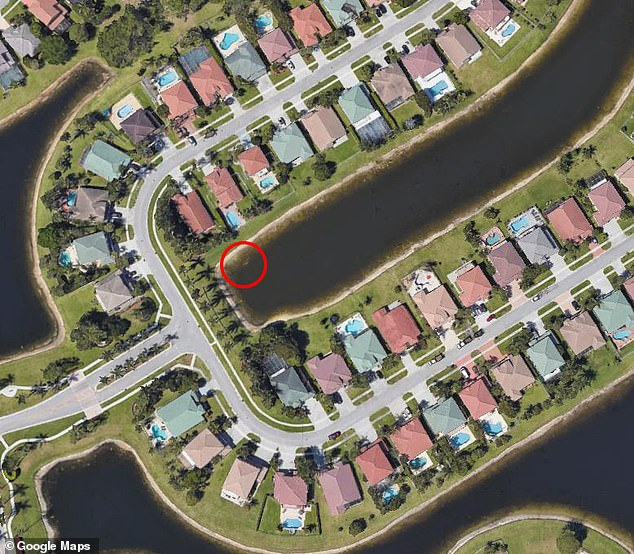 His body was found in a submerged car which was only discovered after a manager of the property saw something strange on Google Earth and decided to alert authorities