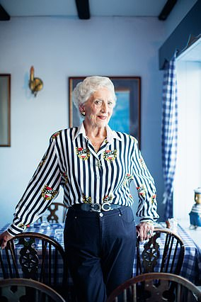 Rita Gilmore, 87, owns a restaurant on Alderney in the Channel Islands