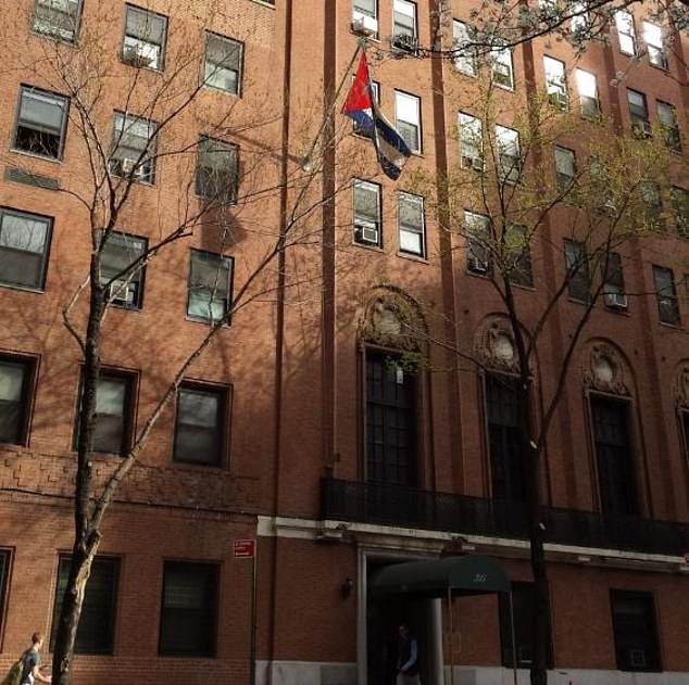 The United States is expelling two Cuban diplomats from the country's permanent mission to the United Nations in New York City. The mission is seen in the above stock image