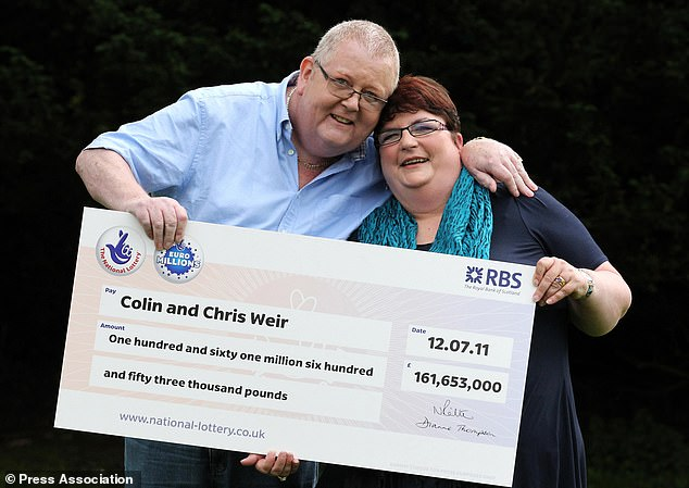 Colin and Chris Weir, from Largs in Ayrshire, scooped £161million back in 2011 (pictured together above)