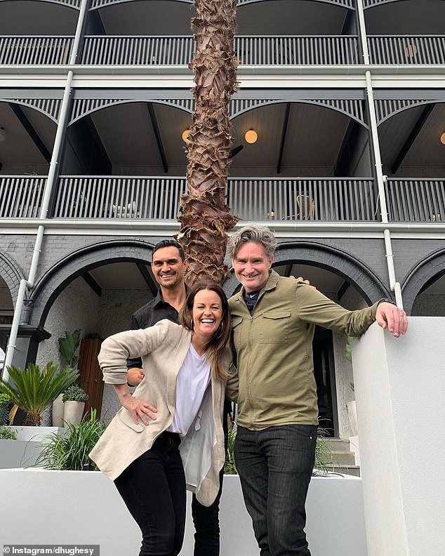 What's he up to?Comedian Dave Hughes also made headlines by dropping into the St Kilda site last week, sparking speculation he was going to buy another property on The Block after purchasing one last year