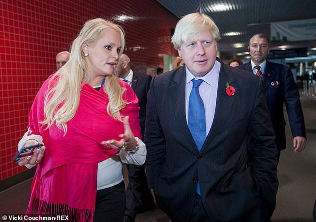 Jennifer Arcuri meets Boris Johnson at the Excel World Islamic Economic Forum, London, October 2013