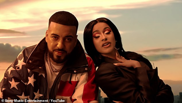 French and Cardi:Rapper Cardi B leaves little to the imagination in the music video for French Montana's new song Writing On the Wall, which she collaborates on with Post Malone and Rvssian