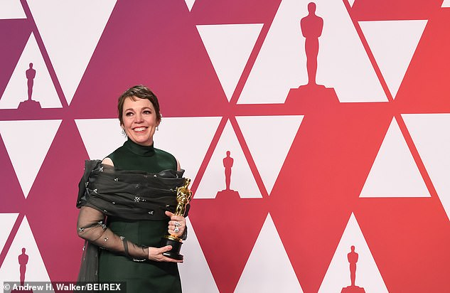 Iconic: Olivia admitted that she never expected to win, and that her Academy Award takes pride of place in her home (pictured February 2019)