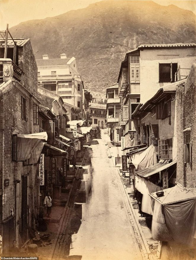 Cochrane Street in Hong Kong.Cochrane Street was at the build-up area of Cantonese residents. It was re-zoned in 1844 under the administration of Henry Pottinger to improve the hygiene condition of water supply. The Cantonese residents was later removed to Tai Ping Shan area