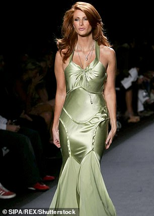The supermodel went through several sets of breast implants before the popped and had to be removed in 2009 when she gave birth to her son