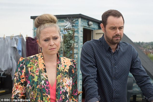 Back again: Danny Dyer and Kellie Bright have been nominated again this year in the best partnership category for their roles as Linda and Mick Carter in EastEnders