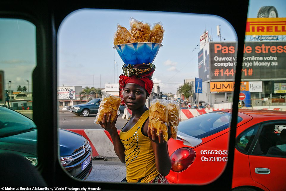 It is free to submit entries to the Sony World Photography Awards. Pictured is a 2020 entry in the open competition's portraiture category. It was snapped by Turkish photographer Mahmut Serdar Alakus inAbidjan, Ivory Coast