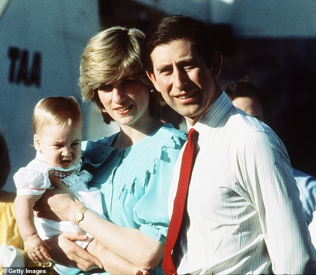 Baby's first tour: The Australian tour was Charles and Diana's first with baby Prince William [pictured at Alice Springs airport on 20 March 1983]