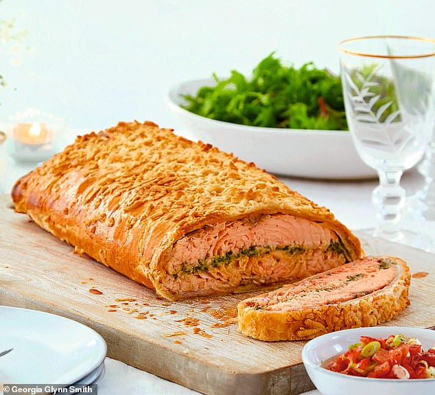 This glorious salmon salsa verde en croute is oozing flavour for a hearty lunch