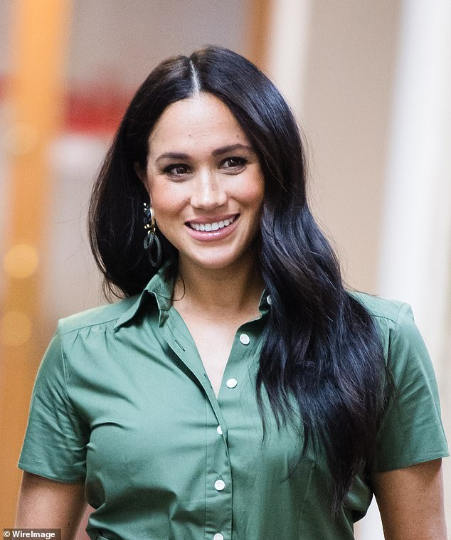 According to celebrity hair stylist James Johnson, the Duchess of Sussex could have used thickening sprays to give her hair extra volume as she stepped out in Johannesburg today