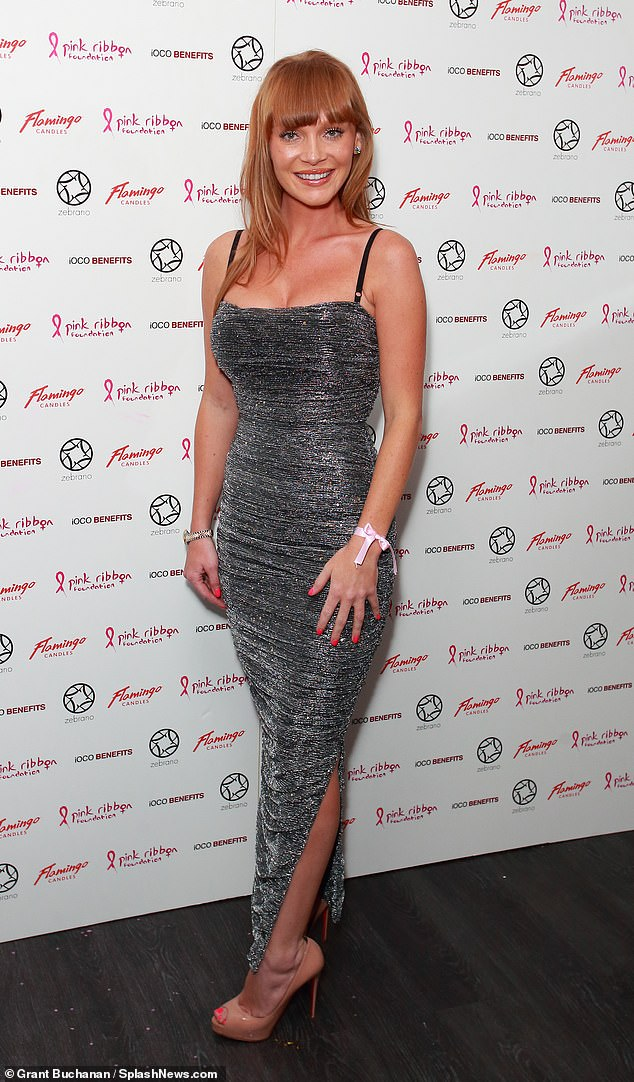 Stunning: Summer Monteys-Fullam, 24, looked nothing short of sensational as she arrived at the Pink London event at Soho Zebrano in London on Tuesday