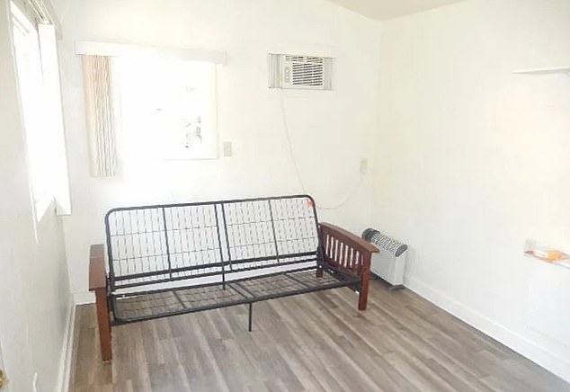 Recently updated, the home does have freshly laminated floors and an AC unit