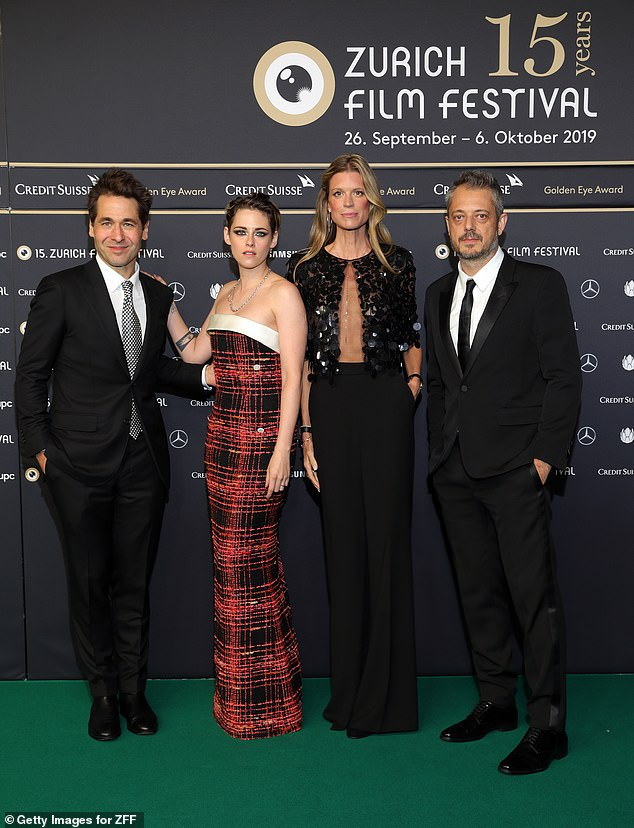 Supportive: Kristen and Benedict were joined by Zurich Film Festival Co-Festival directors Karl Spoerri and Nadja Schildknecht
