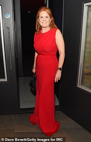 Sarah Ferguson pictured at a film event in London on Tuesday