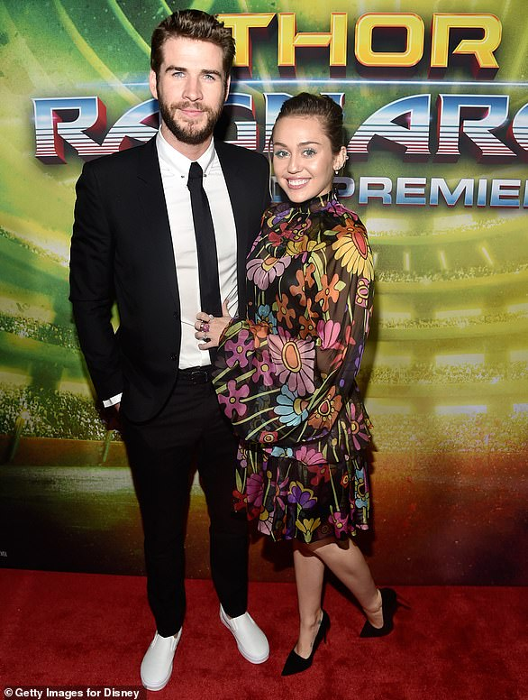 Power couple:Miley and Liam made their first red carpet appearance together in more than four years in October 2017 at the Hollywood premiere of Thor: Ragnarok