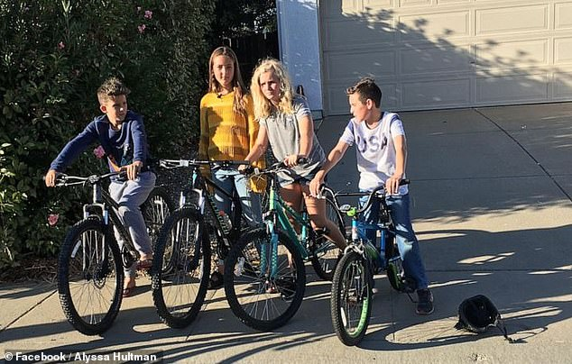 Four kids on their bikes (pictured above) helped search their California neighborhood and found an elderly woman who suffers from dementia after she had gone missing from her care facility, drawing comparisons to child sleuths from the 1980s cult classic, 'The Goonies'