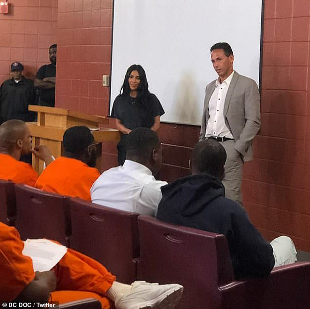 Kardashian was at the prison learning about the Georgetown Prison Scholars program
