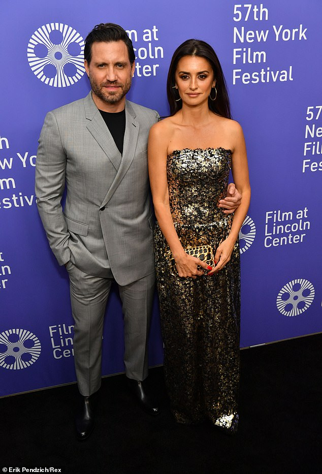 Co-star:Cruz was joined on the carpet by her Wasp Network co-star Édgar Ramírez, 42