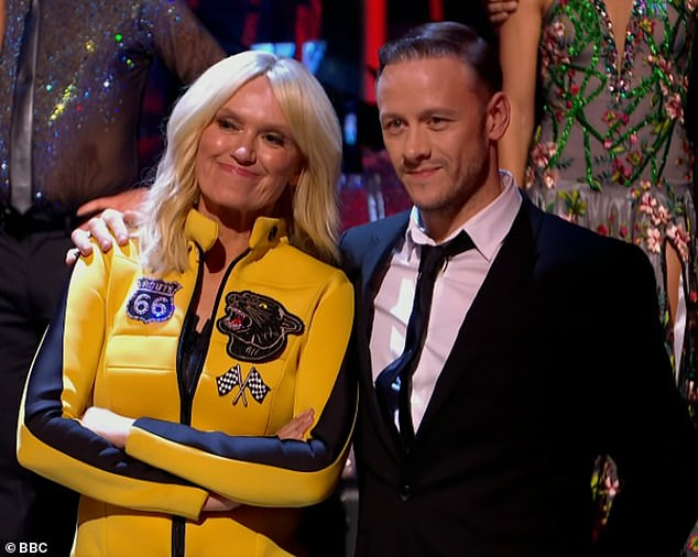 Last dance: Anneka and her dance partner Kevin became the second ballroom couple to be eliminated from Strictly on Sunday evening