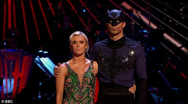 Saved: The judges voted unanimously to save David James and his partner Nadiya Bychkova