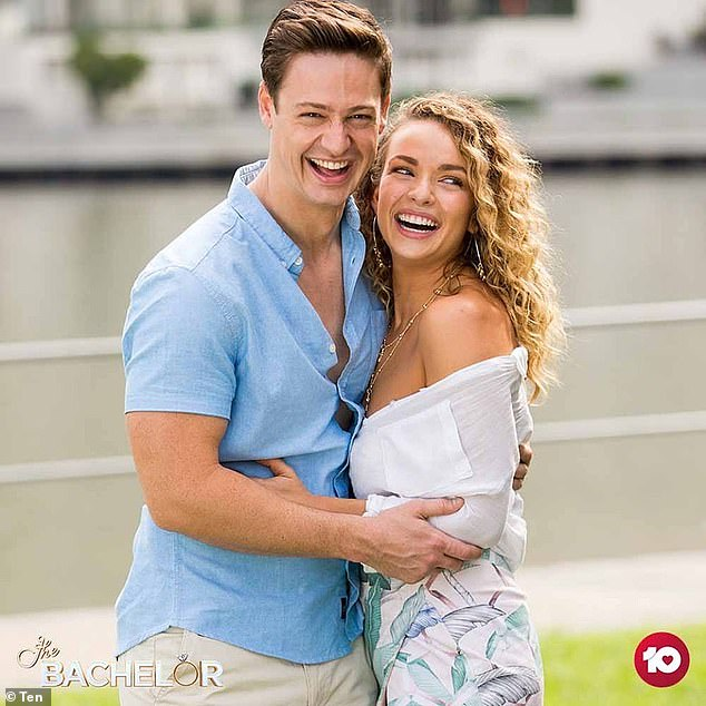 Gutted!Abbie made it to the finale of The Bachelor, but was left heartbroken when Matt Agnew (left) chose Chelsie McLeod as his winner instead
