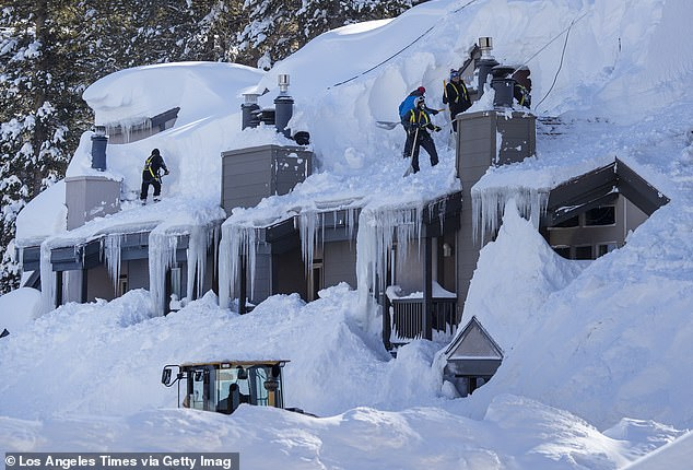 There will still be enough snowfall in California (pictured above after a February snow storm) to help stave off drought conditions into the spring.The expected snowfall also means decent ski conditions for many of the resorts across the state