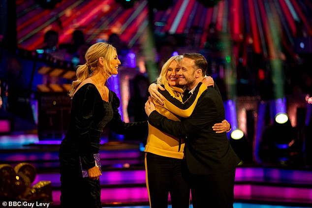 Had a ball: Anneka said that she 'loved' her time on the show as she spoke with host Tess Daly
